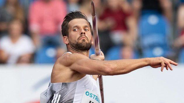 Oštěpař Magnus Kirt během atletického mítinku Zlatá tretra. Ilustrační foto.