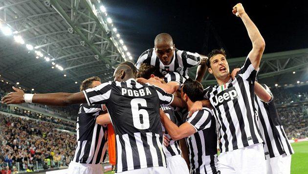 Radost fotbalistů Juventusu.