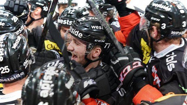 Ilustrační foto: Radost hokejistů Bernu.