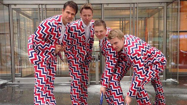 Odvážný oděv norských curlerů pro OH v Soči.