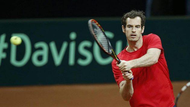 Brit Andy Murray se v Gentu připravuje na finále Davis Cupu.