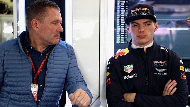 Max (vpravo) a Jos Verstappenovi.