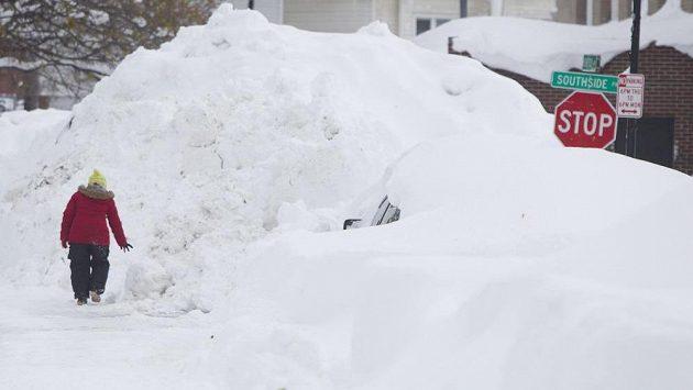 Buffalo zasáhly sněhové přívaly.