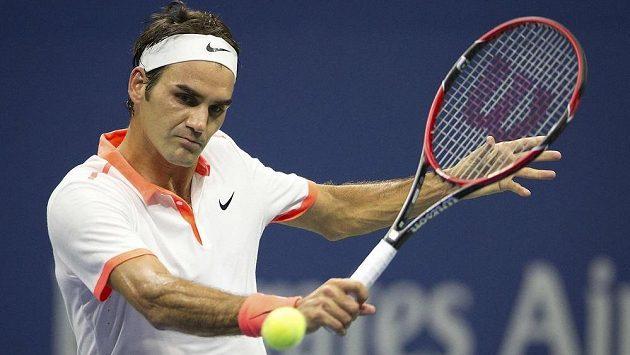 Roger Federer ve čtvrtfinále US Open snadno přešel přes Richarda Gasqueta.