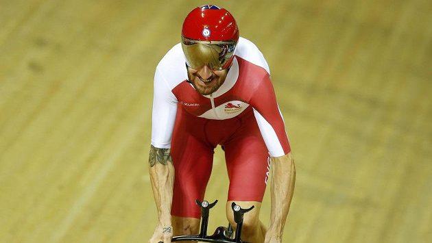 Angličan Bradley Wiggins na Hrách Commonwealthu v Glasgow.
