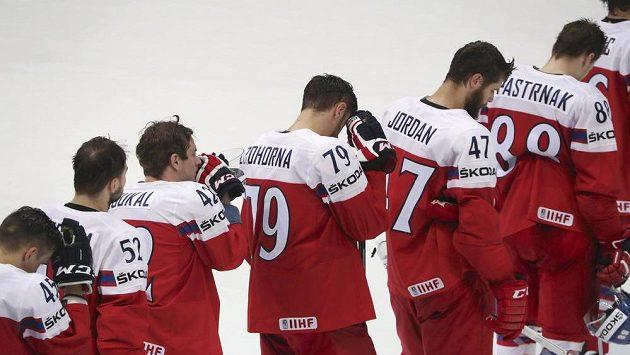 Smutek. Čeští hokejisté medaile na světovém šampionátu v Rusku nezískají. Ve čtvrtfinále nestačili na Spojené státy.