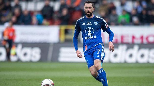 Michal Ordoš z Olomouce v zápase 21. kola fotbalové Synot ligy se Spartou.
