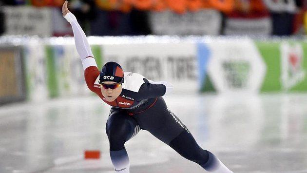 Karolína Erbanová na trati závodu na 1000 metrů.