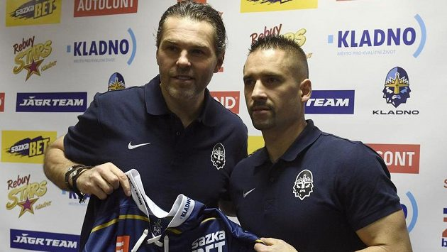 Majitel hokejového klubu Rytíři Kladno Jaromír Jágr (vlevo) a útočník Tomáš Plekanec.