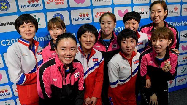 Korejské stolní tenistky na MS.