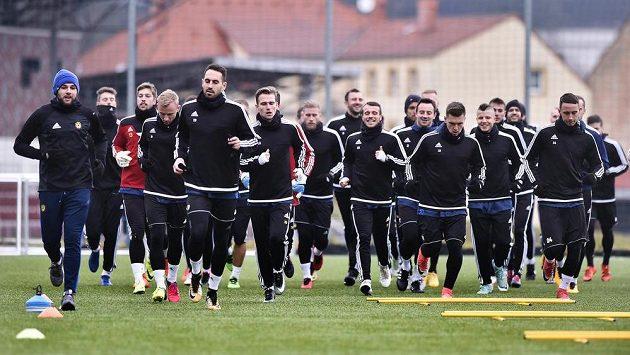 Fotbalisté Jihlavy během zimní přípravy.