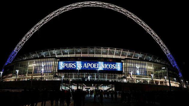 Stadion Wembley před utkáním Tottenham Hotspur - Apoel Nicosia. Ilustrační snímek.