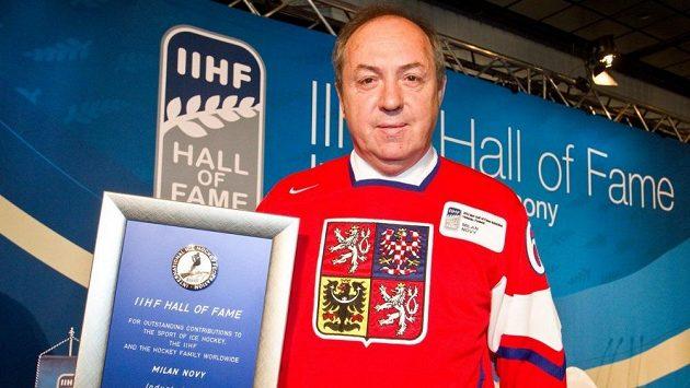 Legenda českého hokeje Milan Nový.