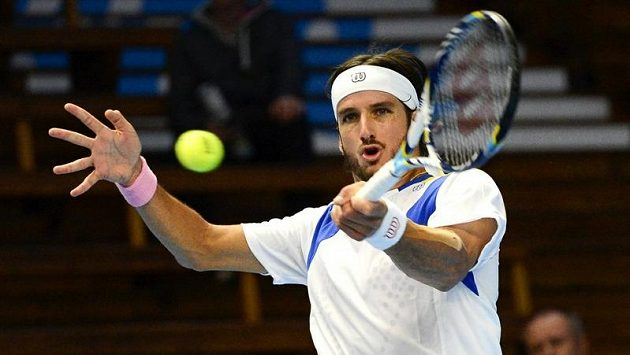 Španělský tenista Feliciano López na turnaji ATP ve Stockholmu