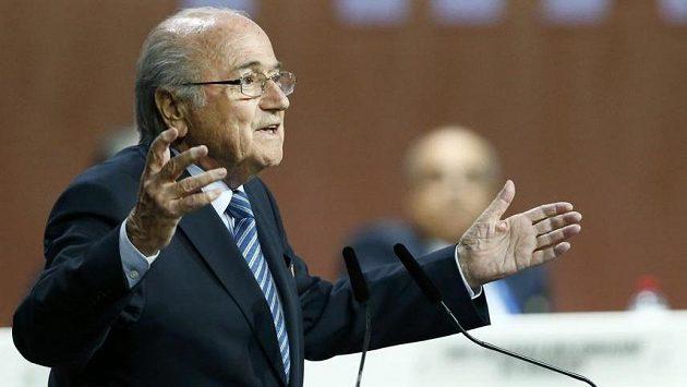 Odstupující předseda FIFA Sepp Blatter.