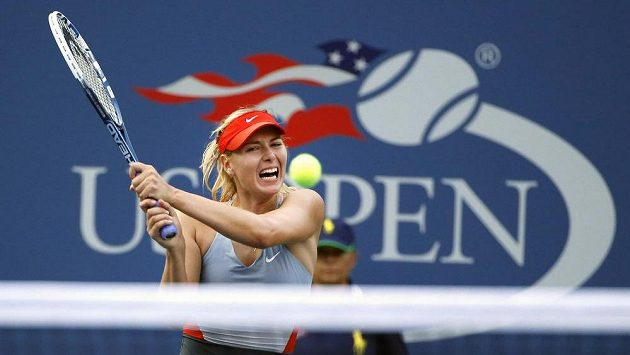 Maria Šarapovová na US Open na snímku z roku 2014.