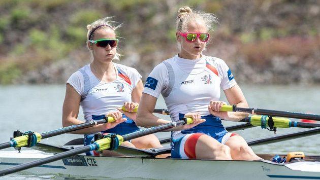 Dvojskif žen Lenka Antošová (vpravo) a Kristýna Fleissnerová.