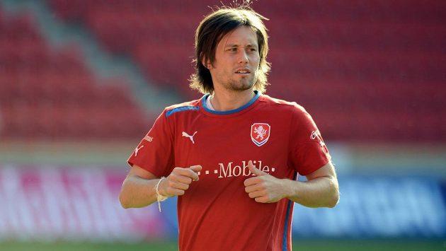 Kapitán Tomáš Rosický potvrdil i trenérovi Vrbovi, že chce dál reprezentovat.