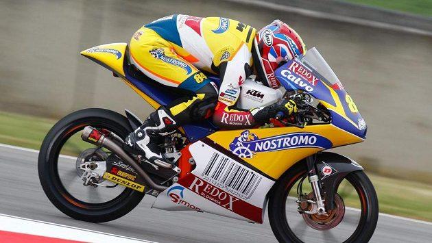 Český motocyklový jezdec Jakub Kornfeil při Velké ceně Itálie.