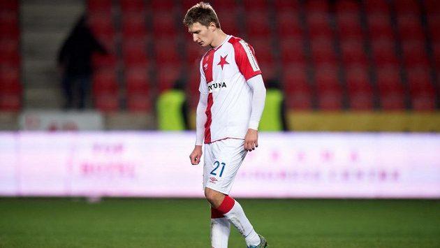 Slávistický útočník Milan Škoda generálku na ligu nedohrál...