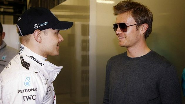 Valtteri Bottas a Nico Rosberg.
