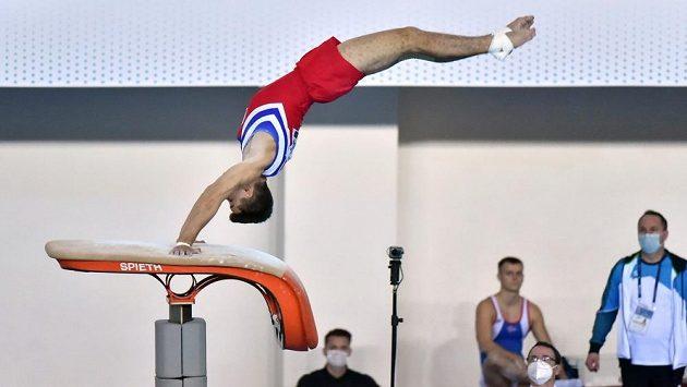 Ondřej Kalný obsadil páté místo na přeskoku na mistrovství Evropy ve sportovní gymnastice v Mersinu.