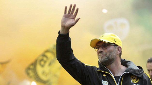 Kouč Juergen Klopp se po finále Německého poháru loučí s fanoušky Borussie Dortmund.