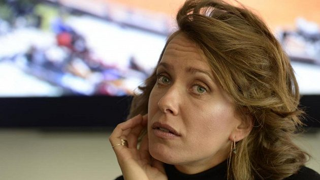 Tenistka Barbora Strýcová na setkání s novináři, jimž oznámila, že s ní ukončil spolupráci trenér Tomáš Krupa.