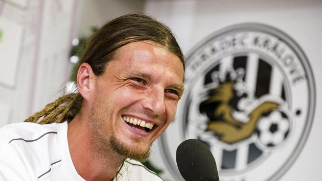 Kapitán hradeckých fotbalistů Adrián Rolko.