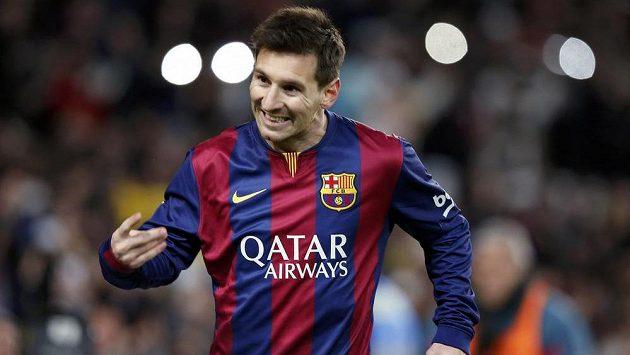Lionel Messi z Barcelony se raduje z gólu proti Atlétiku Madrid.