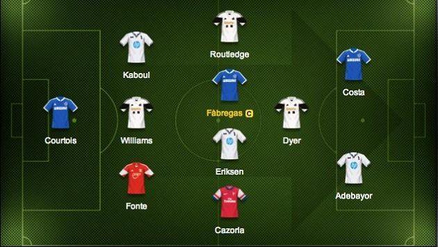 Svou premiéru v dresu Chelsea zvládl Fábregas skvěle.