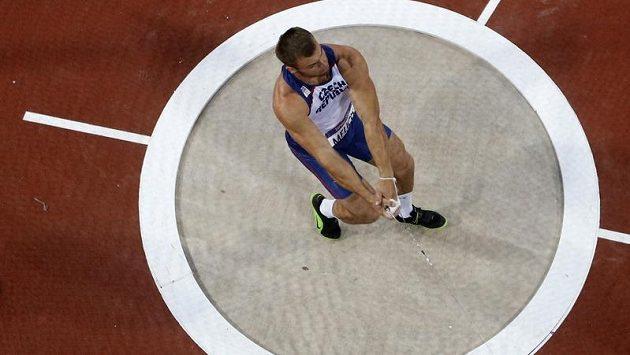 Kladivář Lukáš Melich při olympijském finále v Londýně.