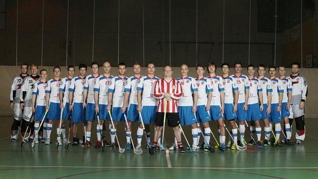 Patron reprezentace David Novotný s českým týmem