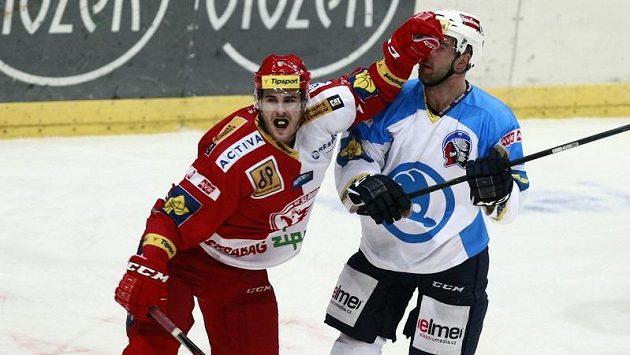 Slávista Michal Poletín se raduje z gólové trefy proti Plzni.