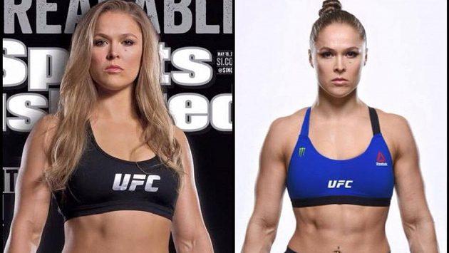 Ronda Rouseyová před pár měsíci, kdy byla bojovnicí v UFC.