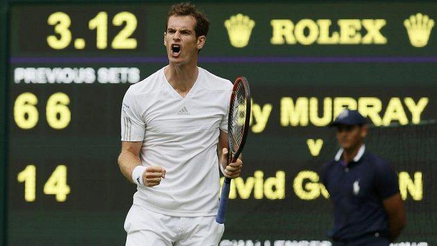 Andy Murray smetl Belgičana Goffina za dvě hodiny.