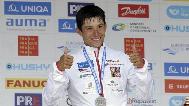 Jiří Prskavec má důvod ke spokojenosti, na kanále v Troji obhájil evropský bronz.