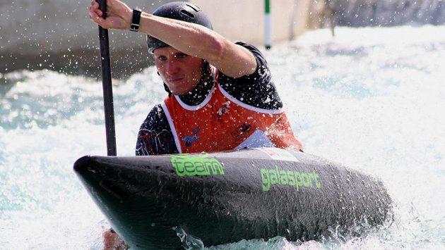 Kajakář Vít Přindiš si jede pro druhé místo na Světovém poháru v Londýně.