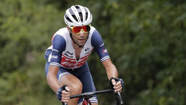 Ital Vincenzo Nibali ve 14. etapě Tour.
