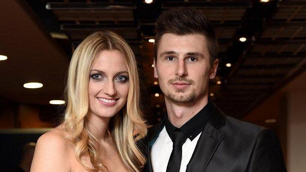 Petra Kvitová s partnerem Radkem Meidlem.
