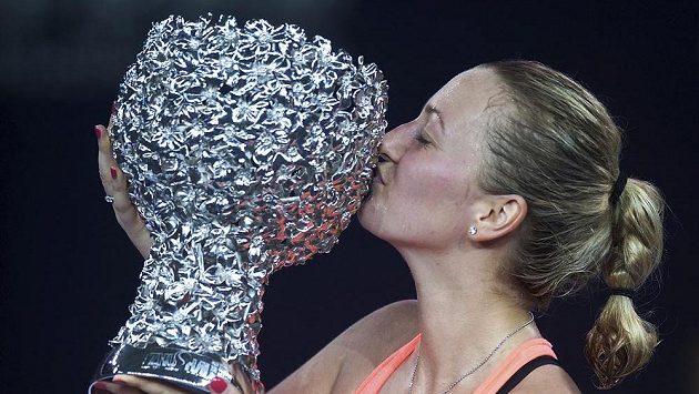 Petra Kvitová s vytouženou trofejí.