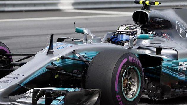 Valtteri Bottas na trati Velké ceny Rakouska.