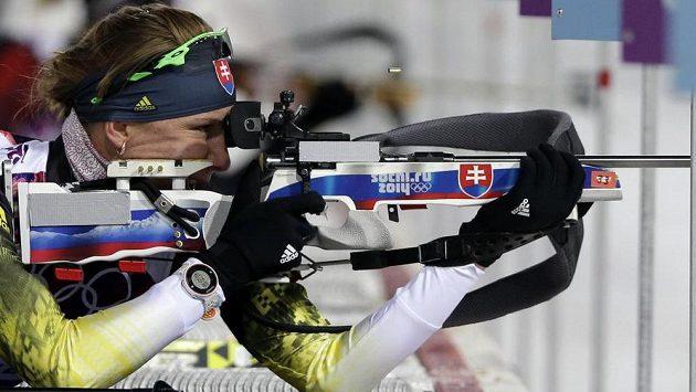 Slovenka Anastasia Kuzminová při vítězném závodě v Soči.