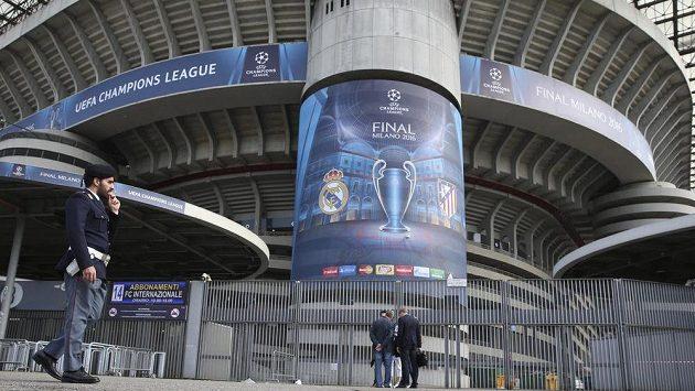 Milánské San Siro je nachystáno na velké madridské finále Real - Atlético.