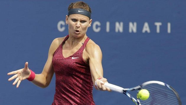 Česká tenistka Lucie Šařářová (na snímku) na Rumunku Simonu Halepovou v Cincinnati nestačila.