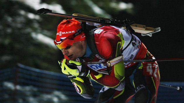 Český biatlonista Ondřej Moravec vybojoval skvělé čtvrté místo.