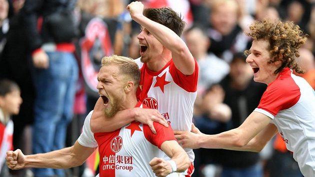 Slávista Mick Van Buren vstřelil Olomouci gól na 2:1.