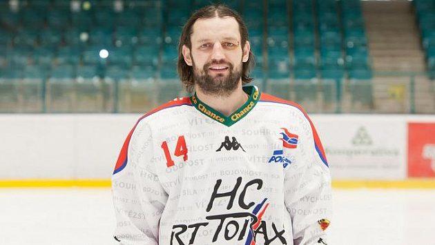 Hokejový útočník Poruby Michal Vymazal.