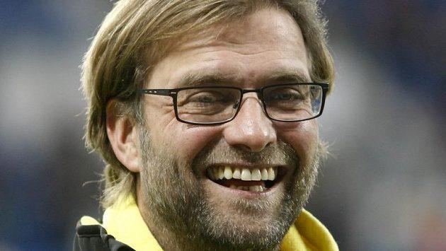 Jürgen Klopp, trenér Dortmundu, se mohl po utkání v Hoffenheimu usmívat...