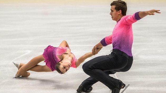 Anna Dušková s Martinem Bidařem při mistrovství Evropy v Ostravě.